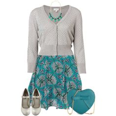 """""""Dress with a Cardigan"""" by kswirsding on Polyvore"""