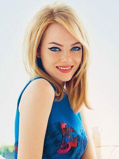 Emma Stone   Fifties Eyeliner Flick