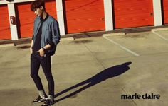 """Lee Jong Suk in """"The Journey"""" for Marie Claire Korea March 2015. Photographed by Park Ji Hyuk"""