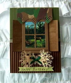 Masculine Window by shoregirl - Cards and Paper Crafts at Splitcoaststampers