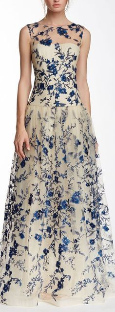 Floral Embroidered Gown ❤︎ #bridesmaid #wedding #dress