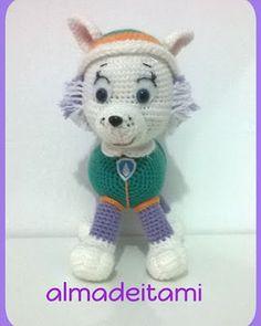 "Everest Patron ""Dog Patrol"" Part 1 Crochet Kids Hats, Crochet Amigurumi Free Patterns, Crochet Toys, Crochet Baby, Free Crochet, Everest Paw Patrol, Amigurumi Toys, Spongebob, Projects To Try"