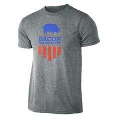 Funny men's crossfit gift idea - Bacon for President - Gray - Men's Triblend T-shirt