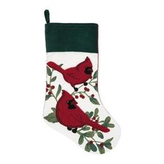 Poinsettia Berry Christmas Stocking Green - The classic holiday design of this Poinsettia Berry Christmas Stocking makes for a grand holiday addition. Hang this Christmas necessity from your staircase or mantel for a warm home addition. Christmas Stocking Holders, Stocking Tree, Christmas Tree Cards, Christmas Store, Christmas Traditions, Merry Christmas, Christmas 2019, Xmas, Country Christmas Decorations