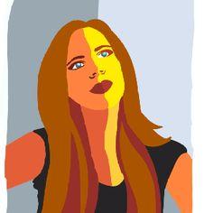 gestileerd Portret; dit portret is gestileerd de meeste details zijn weg gelaten.