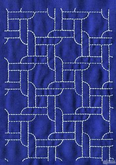 Sashiko running stitch @Anna Totten Totten Totten Totten Halliwell Boyd Fontaine collection