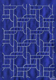 Sashiko running stitch @Anna Totten Totten Totten Totten Halliwell Boyd Fontaine collection