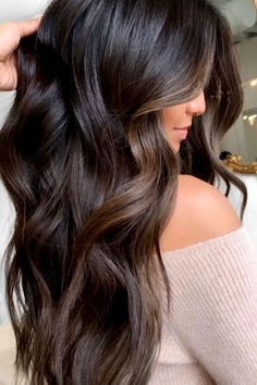 Black Hair With Highlights, Hair Color For Black Hair, Hair Highlights, Black Highlighted Hair, Dark Hair, Brunette Hair Colors, Black Hair With Lowlights, Color Highlights, Hair Colours