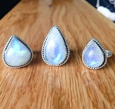Indie and Harper offers premium CELESTIAL Moonstone jewellery & bohemian, gypsy & festival jewels. Bohemian Jewellery, Bohemian Rings, Gypsy Jewelry, Bohemian Gypsy, Moonstone Jewelry, Gemstone Rings, Indie And Harper, Twist Ring, Rain Drops