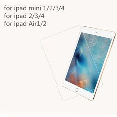 Tempered Glass for iPad 2 3 4 5 6 Protective Film For iPad Mini 1 2 Mini3 4 For iPad Air 1 2 For Table Screen Protector