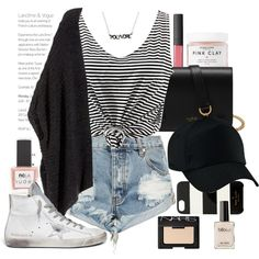 Casual by seventeene on Polyvore featuring H&M, OneTeaspoon, Golden Goose, Mulberry, Kate Spade, NARS Cosmetics, Herbivore, ncLA, contestentry and styleinsider