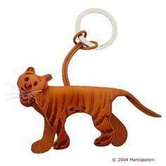 TIGRE - Tiger Italian Leather Key Chain
