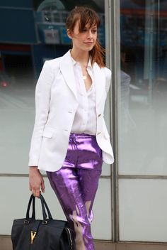 Purple Prabal Pants