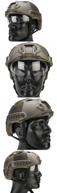 Clothing and Protective Gear 159044: Lancer Tactical Fast Pj Type Airsoft Helmet W/ Flip Down Visor - Navy Seal -> BUY IT NOW ONLY: $37.99 on eBay!