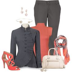 Plus Size Business, created by laaudra-rasco on Polyvore