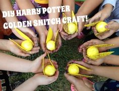 DIY Kids Tutorial Harry Potter Golden Snitch Craft