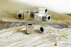 Tube Spacer Beads 5x7mm Rectangle Beads Antique Silver