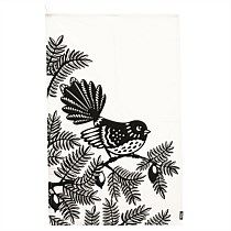 Woodcut Fantail - Tea Towel - Tea Towels - Kitchen - Homeware - Online Gift Shop - NewZealand Design & Gifts - Buy NZ Made Presents Unique Gifts For Her, Unusual Gifts, Great Gifts, Online Gift Shop, Online Gifts, Kiwiana, Bone Carving, Gifts For Girls, Tea Towels