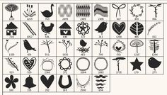 Image detail for -... » Scandinavian folk art silhouette Photoshop brushes + vector pack