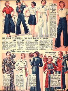 Sears, 1937, Sailor Girl Looks- but also- I like the middle blouse!