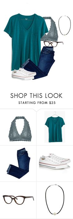 """""""Untitled #261"""" by annakhowton ❤ liked on Polyvore featuring Free People, Madewell, Dsquared2, Converse, Kate Spade and Majorica"""