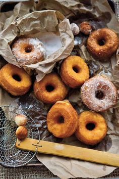 quick cinnamon sugar doughnuts.