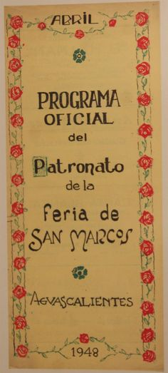 Sabías que... La Feria Nacional de San Marcos fue celebrada por  primera vez en noviembre de 1828 en el Parían (Zona  Comercial) de la Ciudad de Aguascalientes.   Y en 1848 fue trasladada al Jardín de San Marcos cambiando su  celebración al mes de abril.