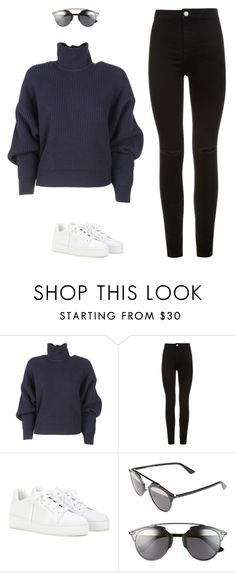 """Sans titre #91"" by na-bi-la-es ❤ liked on Polyvore featuring Balenciaga, New Look, Loro Piana and Christian Dior"