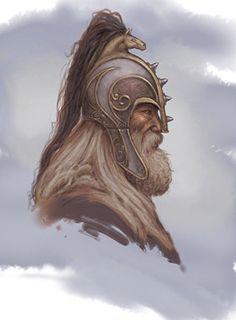 Rohirrim Helm, Seigneur des Anneaux Online par Fred Fields numérique ~ x Character Sketches, Character Portraits, Fantasy Heroes, Fantasy Characters, Medieval, Lotr, Fantasy Armor, Jrr Tolkien, Dark Ages