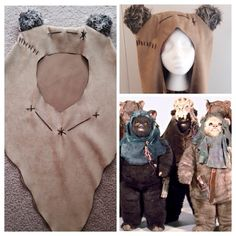 New Ewok Hood sand by iFiCantFINDaReindeer on Etsy