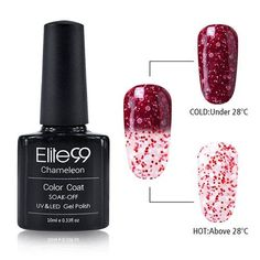 Elite99 Newest 10ml Snowy Thermal Chameleon Temperature Change Color Gel Polish DIY Nail Art Mood Color Changing UV Gel Polish