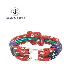 Collins Nautical Bracelet by Bran Marion Nautical Bracelet, Nautical Jewelry, Reef Knot, Marine Rope, Paracord Projects, Handmade Bracelets, Jewelry Collection, Sailor, Ropes