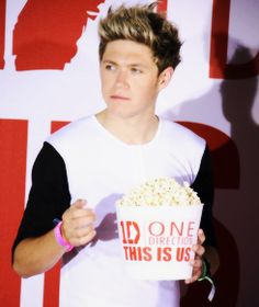 Niall '''Take my popcorn, you dead!'' He does love his food!<3<3<3