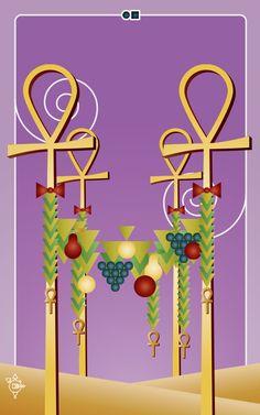 Noo Spinoolean Tarot - Nine of Ankhs