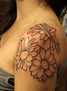 Love this placement. This is going to be my birthday tattoo in a few weeks! I'll be filling the flowers in..my 1st colored tattoo:)