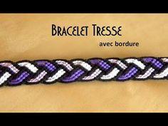Bracelet brésilien tresse avec bordure (intermédiaire)