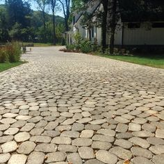 With seven unique shapes, Belgian Cobble® creates a cobbled look with a random pattern and can be used as a permeable system with the proper base. Permeable Driveway, Driveways, Walkways, Outdoor Pavers, Patio, Belgard Pavers, Driveway Design, Random Pattern, Booth Ideas