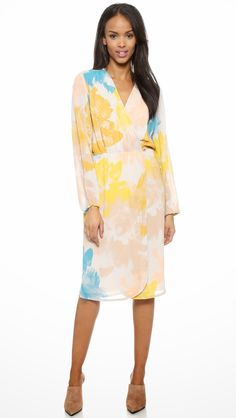 Modest pattern printed midi dress with sleeves | Shop Mode-sty #nolayering
