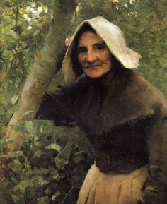 British Paintings: (Sir) George Clausen - An Old Woman