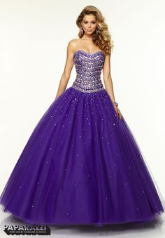 Prom Dresses / Gowns Style 97094: Jeweled Beading on Tulle Ballgown http://www.morilee.com/prom/paparazzi/97094 Bridal Elegance - Erie PA