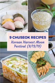 Celebrate Chuseok (Korean Harvest Moon) on or any day in fall with these wonderful traditional recipes! I also share how to setup the ancestral rites Jesa table so don't miss it! Korean Soup Recipes, Asian Recipes, New Recipes, Favorite Recipes, Ethnic Recipes, Korean Traditional Food, Soy Sauce Chicken, Pan Fried Fish, New Year's Food