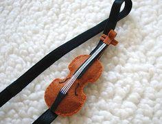Felt Elastic Headband - Violin