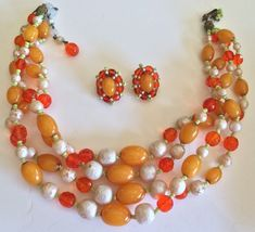 Unique-Vintage-Miriam-Haskell-Bakelite-Necklace-Earrings-Set-Pearls-Glass-Beads     Unique-Vintage-Miriam-Haskell-Bakelite-Necklace-Earring...