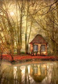 Красивый #дом в осеннем убранстве.