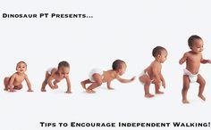 Tips to Encourage Independent Walking; Pediatric Physical Therapy for children; Activities and Exercises to help teach children to walk on their own!