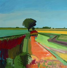 Fred Ingrams is an artist living in Norfolk mainly painting in The Fens. Abstract Landscape Painting, Landscape Art, Landscape Paintings, Abstract Art, Paintings I Love, Contemporary Landscape, Painting Techniques, Painting Inspiration, Painting & Drawing