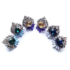 New 2014 fashion high quality shourouk crysta statement stud Earring for women jewelry Factory Price wholesale $3.25