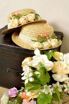 hats and flowers