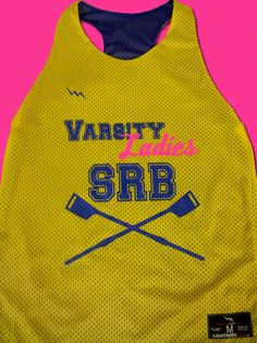 Varsity Ladies SRB crew pinnies. Design your crew team pinnies in mens and womens styles.  Made in the USA.