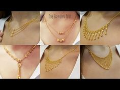 Latest light weight design's of gold chain necklaces 2018 Gold Ring Designs, Gold Bangles Design, Gold Jewellery Design, Jewelry Design Earrings, Gold Earrings Designs, Gold Jewelry Simple, Simple Necklace, Gold Necklace, Damas Jewellery